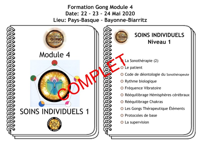 Formation Gong - Soins individuels Niveau 1 - Mars 2020 - Bayonne Biarritz