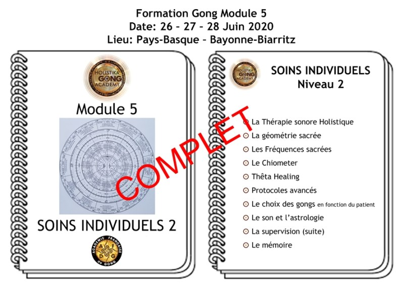 Formation Gong - Soins individuels Niveau 2 - Juin 2020 - Bayonne Biarritz