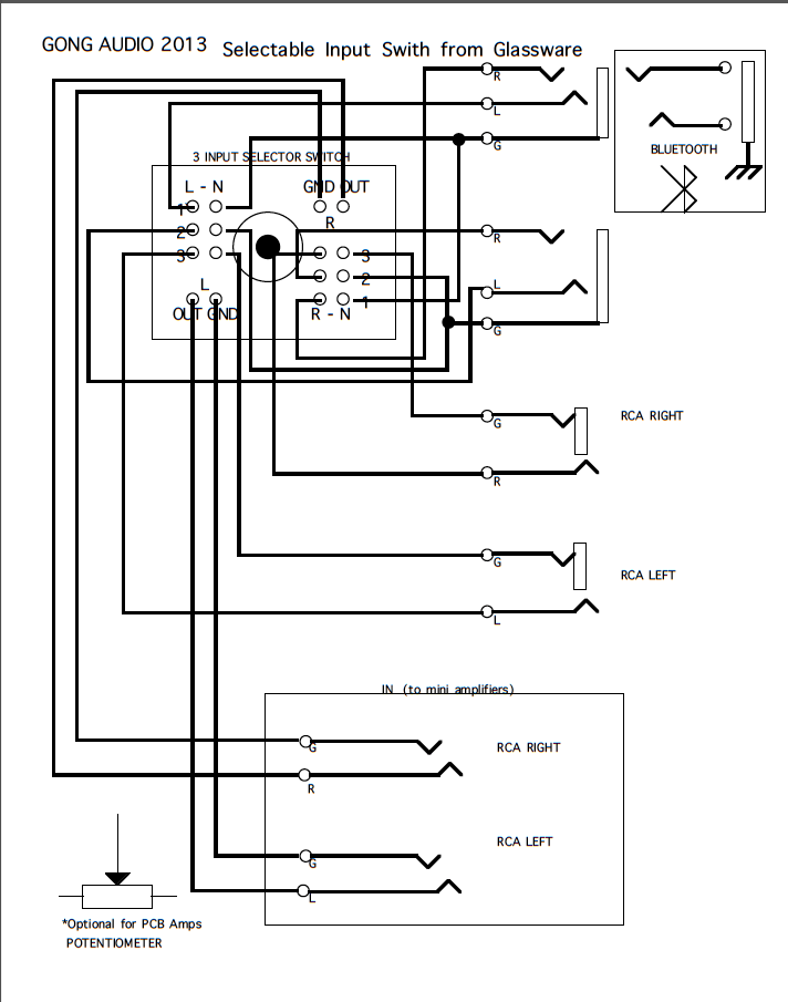 speaker input jack wiring
