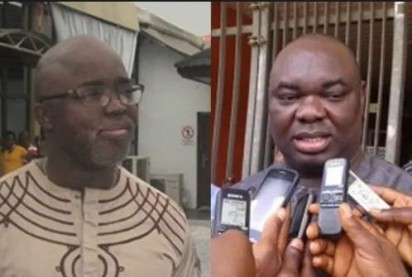 Chris Giwa and Amaju Pinnick...fake news, NFF crisis
