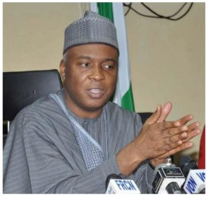 Senator Bukola Saraki President of Nigerian Senate...gained from the lawless state and is also working for lawlessness