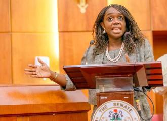 Mrs Kemi Adeosun Nigeria's Finance Minister...on the Paris Club fund