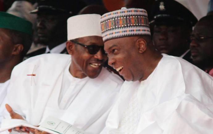 Buhari and Saraki...Senate challenges Buhari to a war of wits