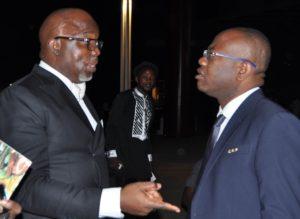 Amaju Pinnick and Kwesi Nyantakyi Ghana Football Association (GFA) President...working together in CAF now