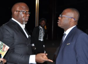 Amaju Pinnick and Kwesi Nyantakyi Ghana Football Association (GFA) President...working together in CAF now