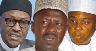 President Buhari, Ibrahim Magu and Bukola Saraki...new twists