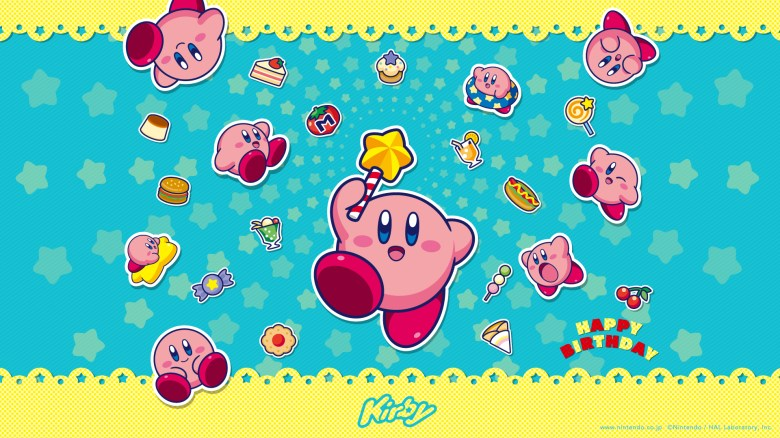 "Kirby ""Happy Birthday"" official wallpaper available 