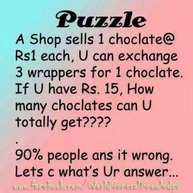 Facebook chocolate problem