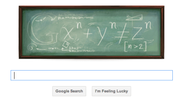 Google Doodle Celebrates Fermat's Last Theorem -2011