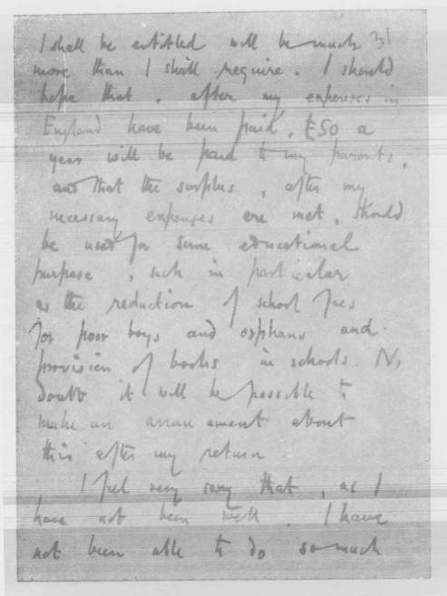 Copy of Ramanujan's letter to the Register, University of Madras (The letter was written in G. H. Hardy's hand) -2