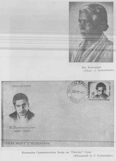 Mrs Ramanujan -And- Rammanujan Commemoration Stamp