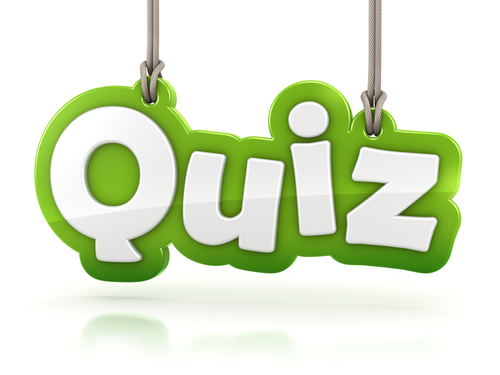 Mathematics Quiz on Green Environmental Clip Art