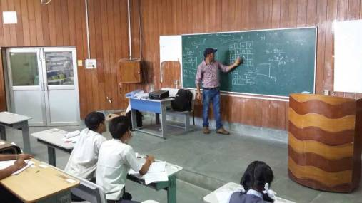 Ajoy Dutta (PhD Scholar, Department of Mathematics, NIT Silchar) explaining magic squares