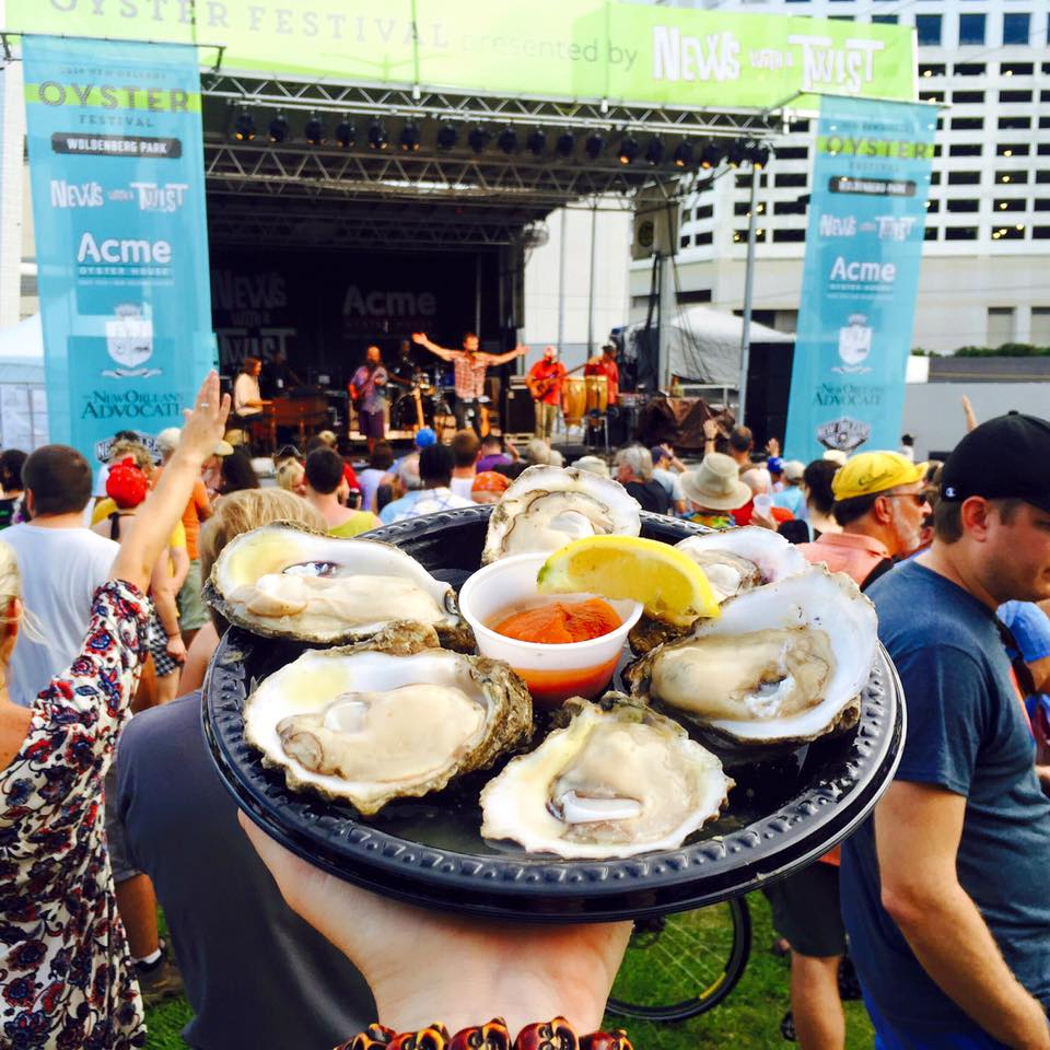 Oysters on the Riverfront? Yes, please. (Photo courtesy Oyster Festival on Facebook)