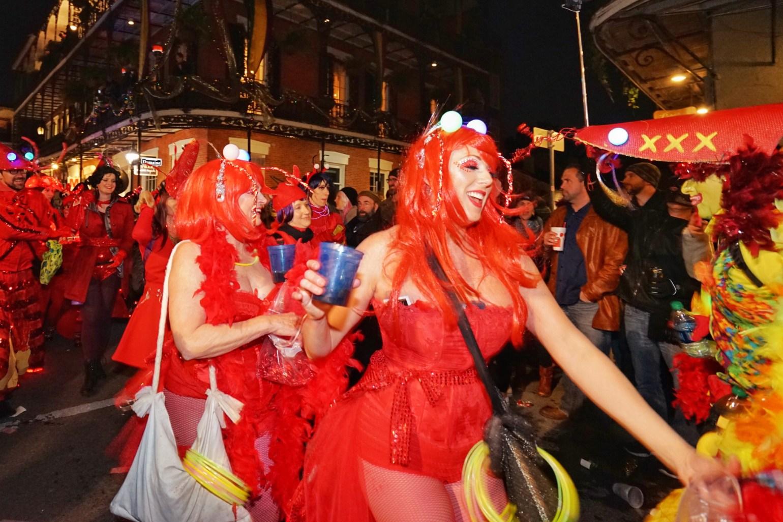 Ladies at Mardi Gras