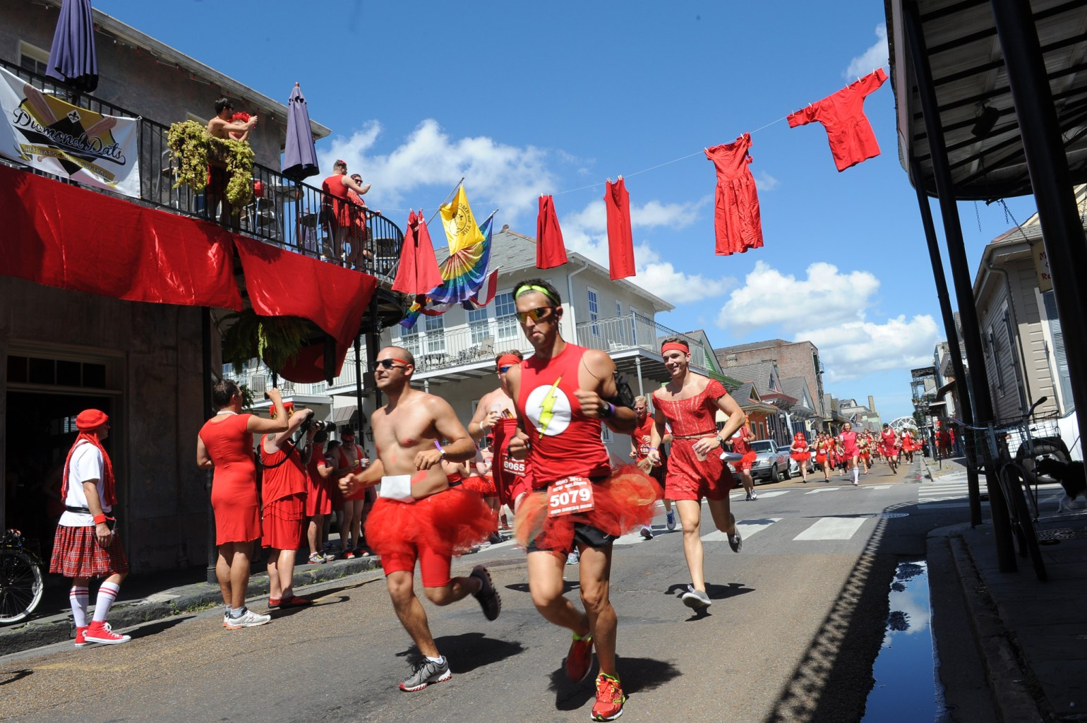 Grab your sneakers and your favorite scarlet colored dress or tutu and hit the Quarter for a fun run like no other. (Photo Credit: Cheryl Gerber)