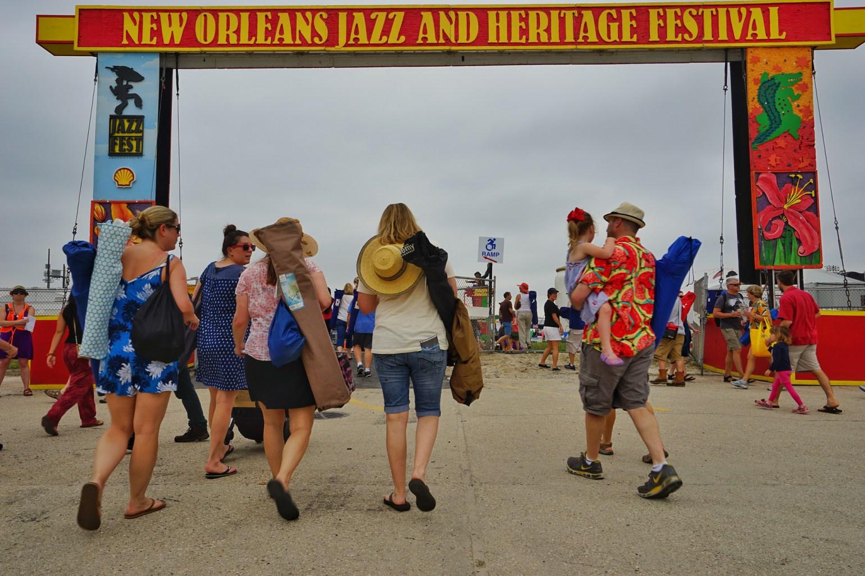 The Jazz Fest entrance. (Photo: Paul Broussard)