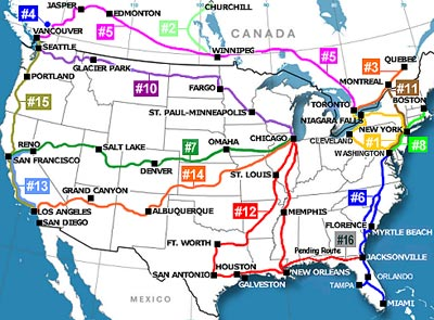 Arman Info - Amtrak map of routes in us