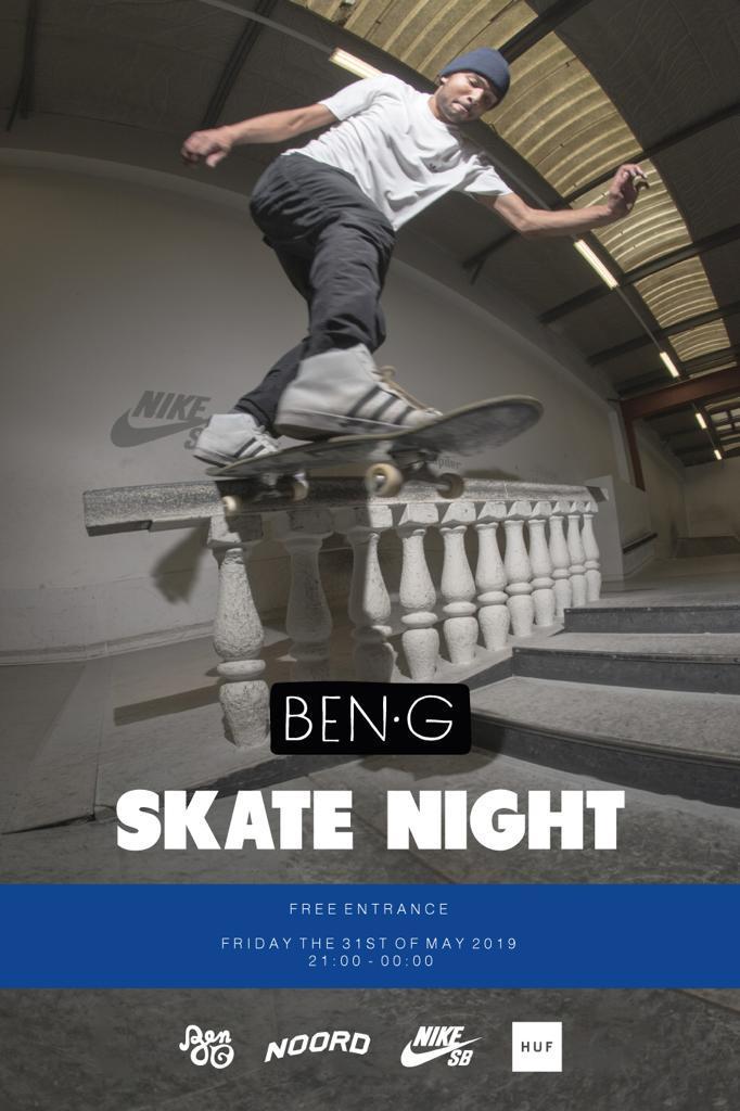 Ben-g skatenight poster