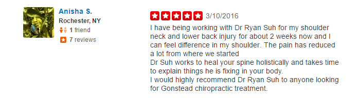shoulder, neck, lower back injury, gonstead chiropractic