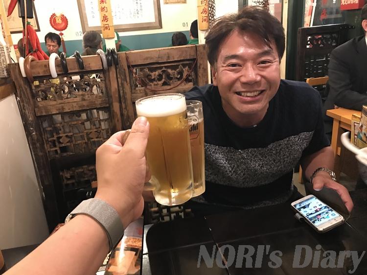 若松とビール