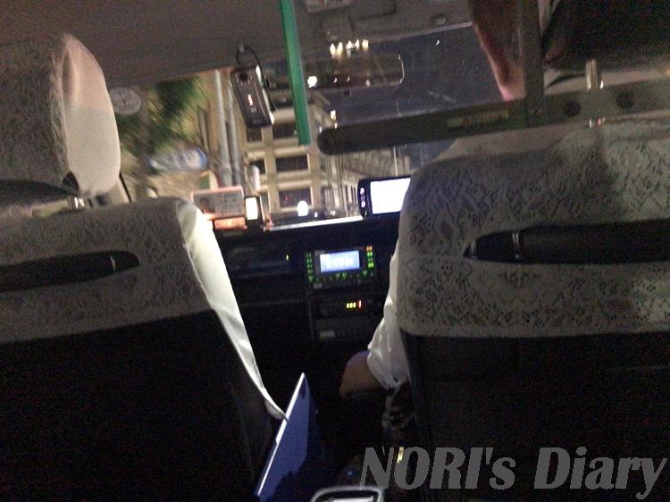 タクシー乗車