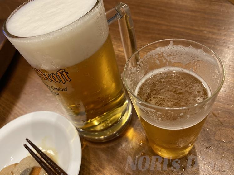 帰宅後のビール