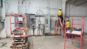 Electrical service overhaul underway