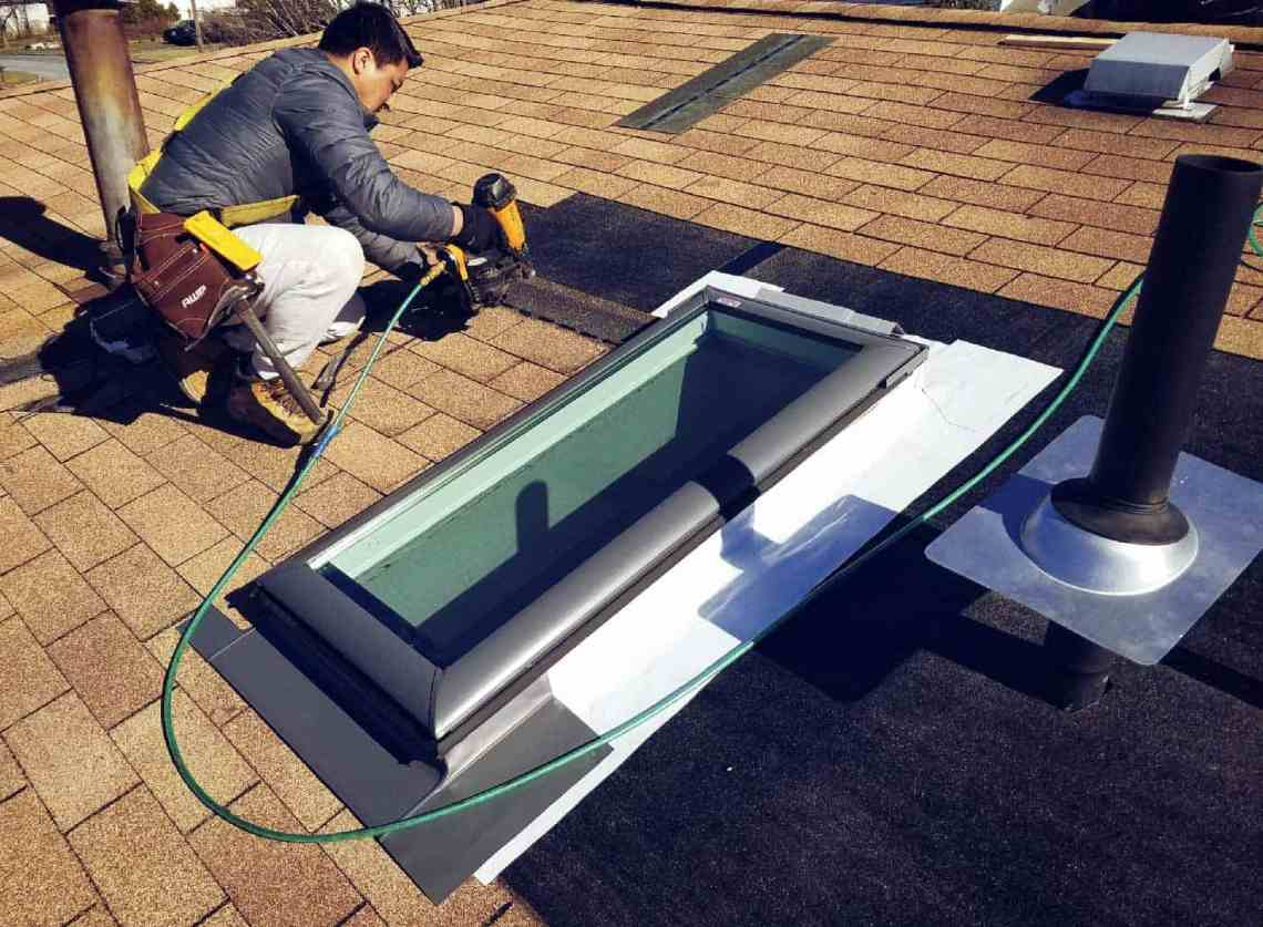 Image Result For Flat Roof Skylight Installation