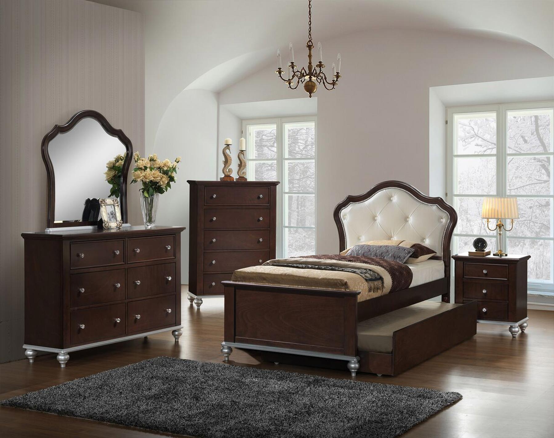 Allison Youth 6 Piece Twin or Full Bedroom Set  Gonzalez
