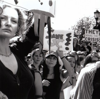 Eyes on the Crisis (The Great Collapse Protest Series), Berkeley CA, Fall 2009.