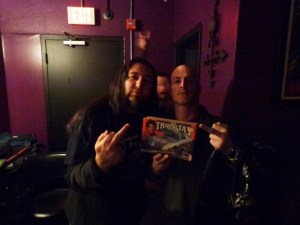 Backstage with Michale Graves. (Left, Kidman Williams, Right Michale Graves
