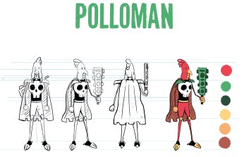 Polloman, formely Emanuel, is a cowardly mexican boy who has had a rough past of bullying and being outcast. A visit from El Raton pushes him into the world of Mezzico and now he must develop the courage to conquer his fears both old and new.