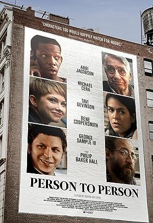 PERSON TO PERSON – FILME – 2017