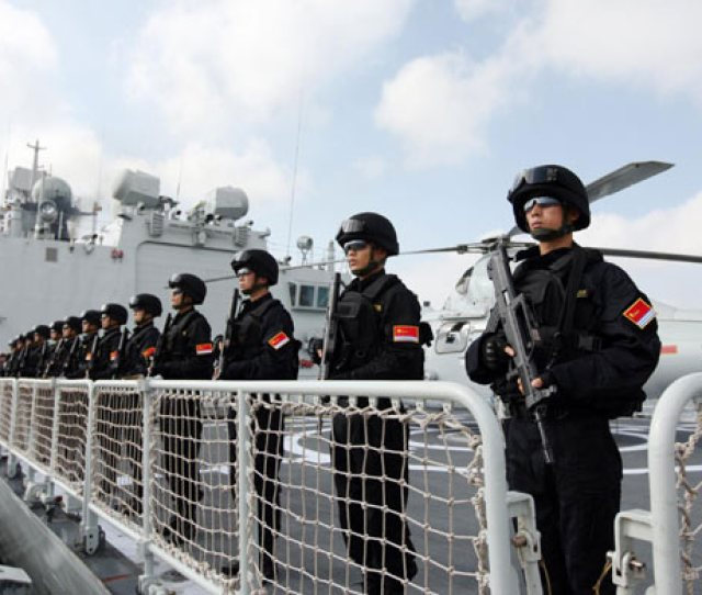Chinese Army Officials Get Ready For The Sail At A Port In Zhanjiang South Chinas Guangdong Province Nov 9 2012 Photo Xinhua