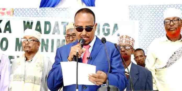 Beesha Kuumade oo Kismayo uga dhawaaqday Musharaxnimada Axmed Madobe. [Digniin loo diray Farmajo]