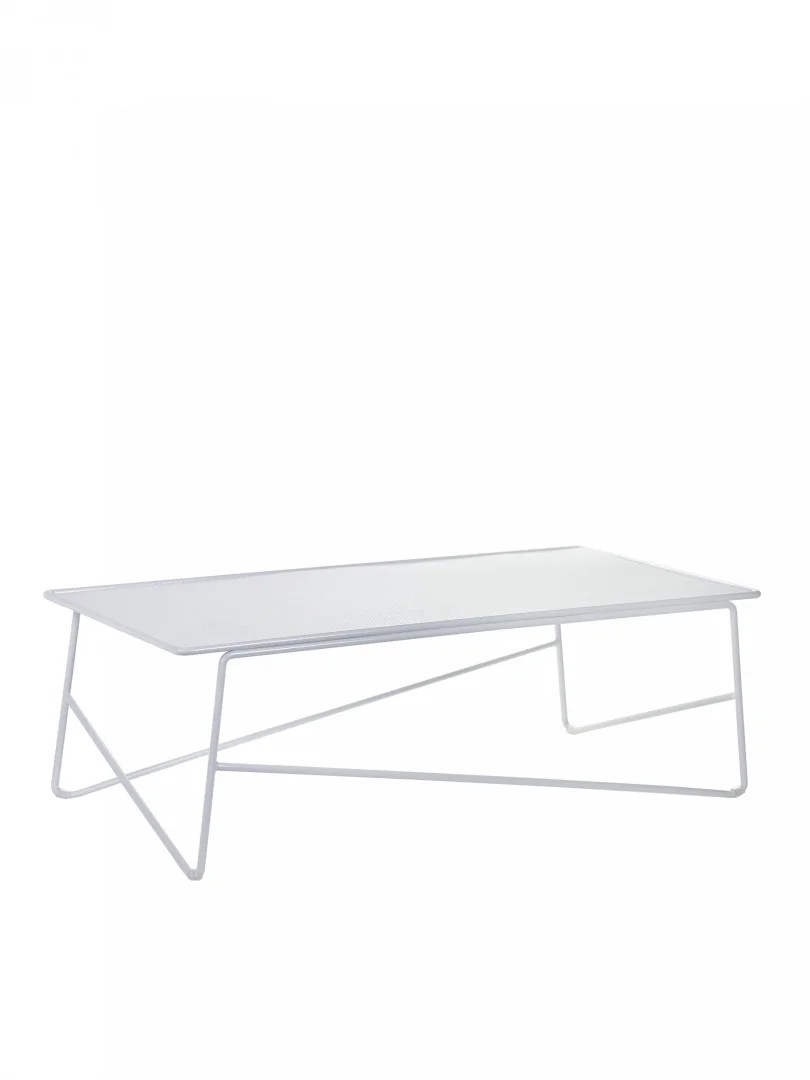 table basse d exterieur blanche en aluminium paola navone serax