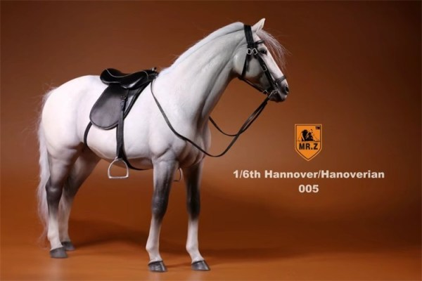 Gray Color 1/6th Scale Model Hanoverian (Hannoveraner) Warmblood Horse, Playset, Animal Figures Horse, Action & Toy Horse