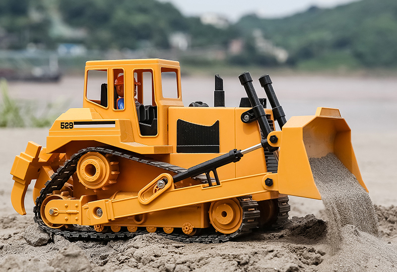 """-""""Simulation RC Bulldozer""""- Electric Remote Control Bulldozer Toy (Construction vehicle toy, Outdoor children's beach toy)"""