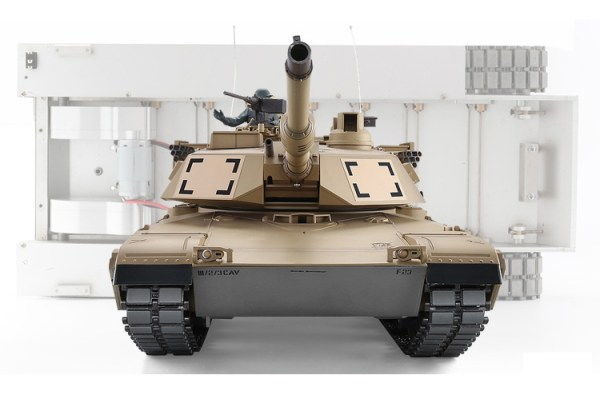 """-""""Full Metal Chassis""""- U.S. Army M1A2 Abrams Remote Control 1/16 Scale Model Tank"""