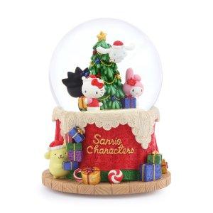 """Sanrio Family Christmas party"", Hello Kitty, Bad Badtz-maru, Pompompurin, Cinnamoroll, Music Snow Globe (Musical Box Water Globe / Snow Domes Christmas Collection)"