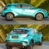 Diecast Cars, 1/18 Diecast Model Car, TOYOTA C-HR 1:18 Scale Model Car.