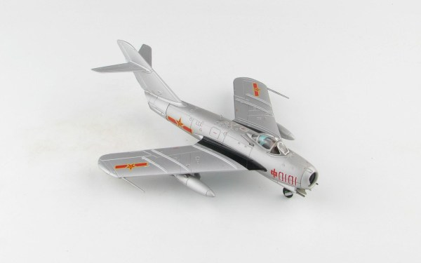 Hobby Master Collector 1/72 Air Power Series HA5906 J-5 Jet Fighter Red 0101, China Air Force (PLAAF), 1956 (Airplanes Diecast Model, Military Aircraft Scale Model)