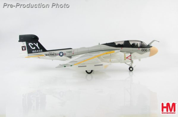 Hobby Master Collector 1/72 Air Power HA5008 Northrop Grumman EA-6B Prowler Electronic warfare/Attack aircraft, 160432, VMAQ-2, United States Marine Corps (USMC) (Military Airplanes Diecast Model, Pre built Aircraft Scale Model)