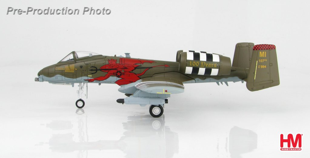 """Hobby Master Collector 1/72 Air Power HA1326 A-10C 81-0994 """"100 Anniversary of the 107th FS"""" 107th FS/127th Wing, Michigan, August 2017. United States Air Force (USAF) Fairchild Republic A-10 Thunderbolt II """"Warthog"""" """"Hog"""" Close Air Support, Ground-Attack Aircraft (Military Airplanes Diecast Model, Pre built Aircraft Scale Model)"""