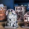 273 Pieces 4 in 1 Harry Potter Diagon Alley 3D Puzzle Paper Set Cubicfun DS1009h Weasley Wizard Wheezes Quality Quidditch Supplies Ollivanders Wand Shop Gringotts Bank Paper Jigsaw Puzzle