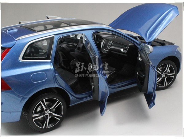 Network Shuttle 1/18 Volvo XC60 2018 R-Design Bursting Blue metallic Diecast Model
