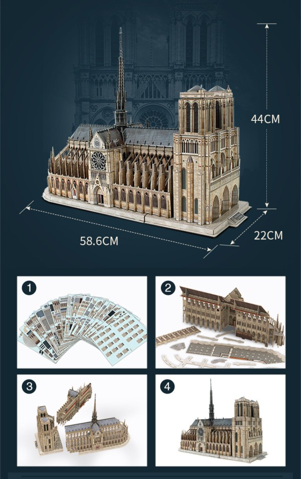 """Notre Dame de Paris is widely considered one of the finest examples of French Gothic architecture in the world. It was restored and saved from destruction by Viollet-le-Duc, one of France's most famous architects. The name Notre Dame means """"Our Lady"""" in French."""