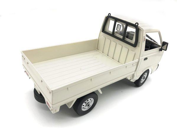 White RTR Suzuki Carry Japanese Mini Truck 2.4GHz Radio Remote Control Suzuki Light Truck Scale Model, 1/10 Scale RC Suzuki Carry Van Compact Pickup Truck (RC Kei Truck, RC Kei Car, Suzuki Microvan)
