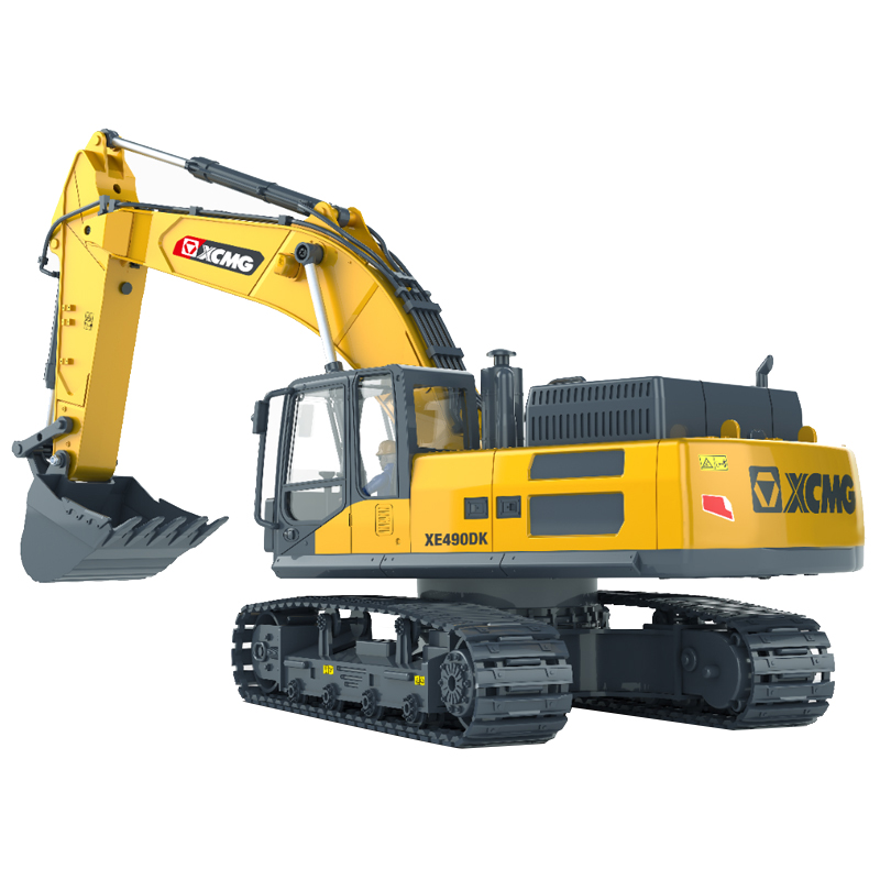 1:18 Scale XCMG XE490DK Crawler Excavator Radio Remote Control Scale Model, Child Earthwork Operations Game RC Excavator. Playing with Sand Construction Vehicles Toy, Heavy Equipment Machinery Toy